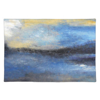 Blue Yellow Beach Cloth Placement Placemat