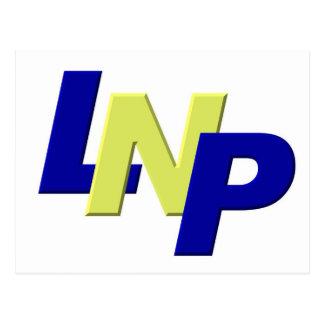 blue yellow blue LPN Post Card