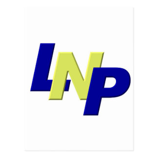 blue yellow blue LPN Postcard