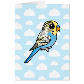 Blue & Yellow Budgie Card