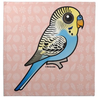 Blue & Yellow Budgie Cloth Napkin