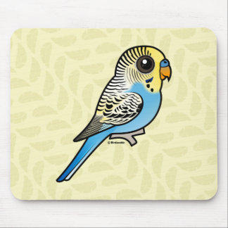 Blue & Yellow Budgie Mouse Pad