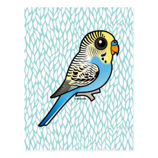 Blue & Yellow Budgie Postcard