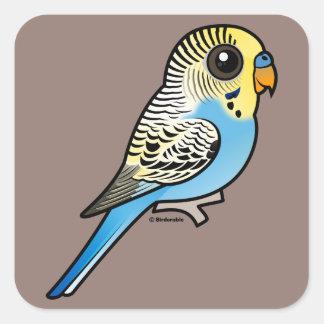 Blue & Yellow Budgie Square Sticker