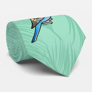 Blue & Yellow Budgie Tie