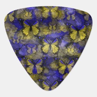 Blue Yellow Butterflies Pick
