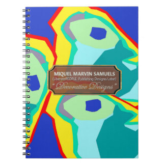 Blue Yellow Butterfly Art Designer Modern Notebook