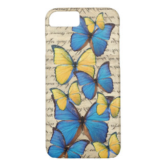 Blue & yellow butterrflies iPhone 7 case