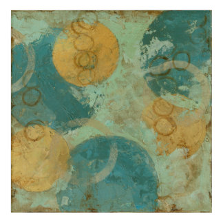 Blue & Yellow Circles Acrylic Print