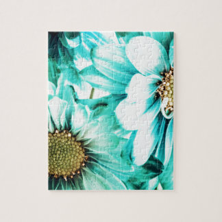 Blue & Yellow Daisies Jigsaw Puzzle