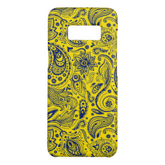 Blue & Yellow Floral Paisley Pattern Case-Mate Samsung Galaxy S8 Case