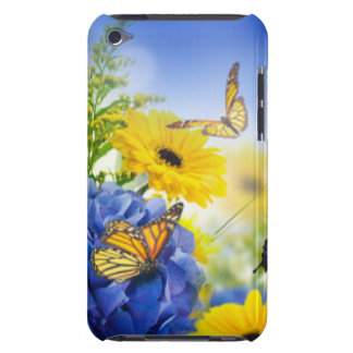 Blue Yellow Flowers With Butterflies Case-Mate iPod Touch Case