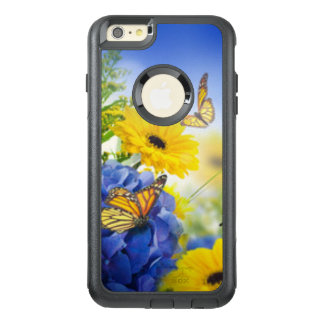 Blue Yellow Flowers With Butterflies OtterBox iPhone 6/6s Plus Case