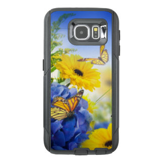 Blue Yellow Flowers With Butterflies OtterBox Samsung Galaxy S6 Case