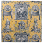 Blue & Yellow French Neoclassical Toile Napkins