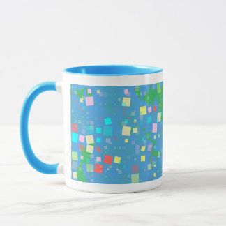 Blue, Yellow, Green and Red Abstract Coffee Mug
