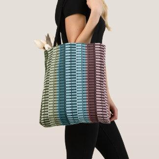 Blue Yellow Green Red Stylish Modern Chic Pattern Tote Bag