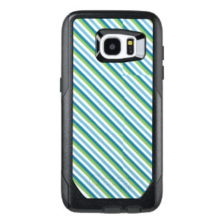 Blue, Yellow & Green Stripes Cell Phone Cases