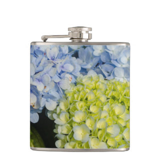 Blue Yellow Hydrangea flask