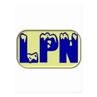 Blue Yellow LPN Post Cards