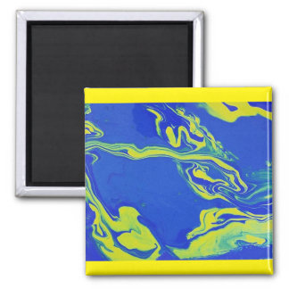 Blue yellow magnet