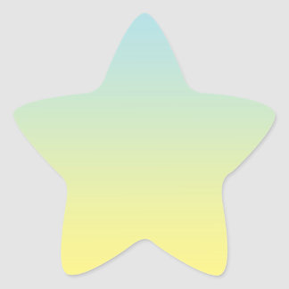Blue & Yellow Ombre Star Sticker