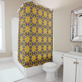 Blue Yellow Orange Talavera Tile Pattern