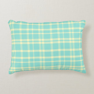 Blue & Yellow Plaid Shabby Chic Accent Pillow