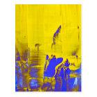 Blue yellow postcard