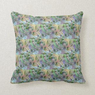 Blue yellow purple mixed Throw Cushion 41 x 41 cm