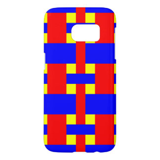 Blue, Yellow & Red Flannel Stripes Samsung Galaxy S7 Case