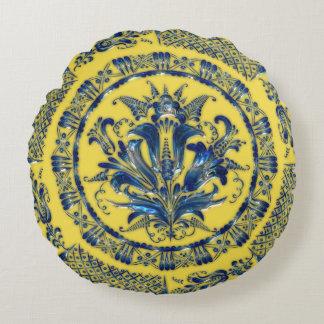 Blue & Yellow Sparkle Mandala designs Pillow