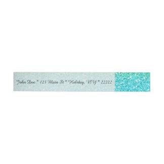 Blue & Yellow Sparkly Bits Wraparound Address Label