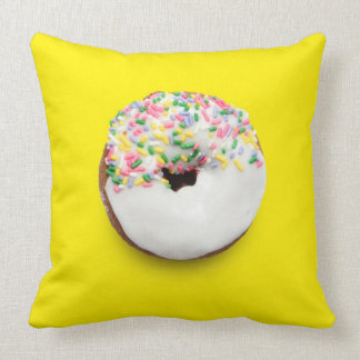 Blue & Yellow Square Sprinkle Donut Pillow