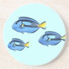 Blue & Yellow Tropical Fish Coaster