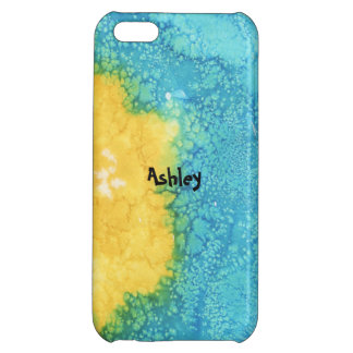 Blue/Yellow Watercolor Case For iPhone 5C