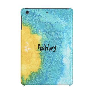 Blue/Yellow Watercolor iPad Mini Covers