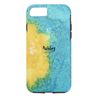 Blue/Yellow Watercolor iPhone 8/7 Case