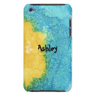 Blue/Yellow Watercolor iPod Touch Case