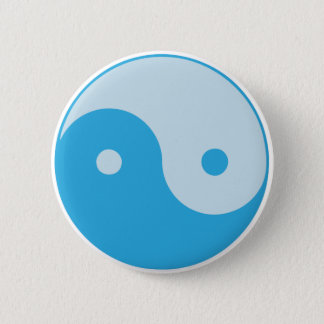 Blue Yin/Yang 2 Inch Round Button