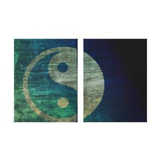 Blue Yin Yang Canvas