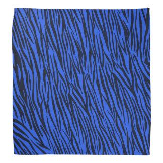 Blue Zebra Animal Print Bandana