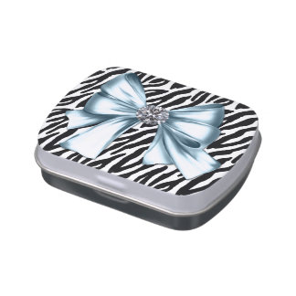 Blue Zebra Baby Shower Candy and Mints