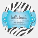 Blue Zebra Jewellery Designer Stickers