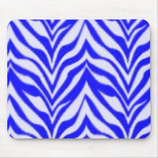 Blue Zebra Mouse Pad