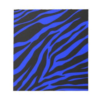 blue zebra notepad