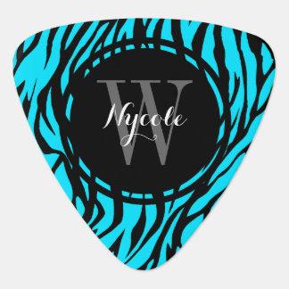 Blue Zebra Personalized Guitar Pick