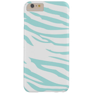 Blue Zebra Print Barely There iPhone 6 Plus Case