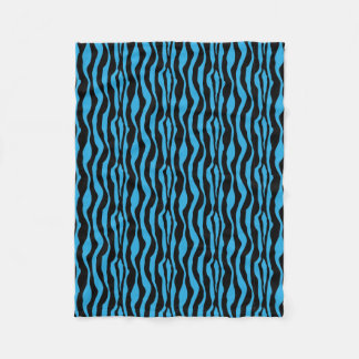 Blue Zebra Print Fleece
