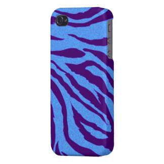 Blue zebra print iphone cover iPhone 4/4S cover